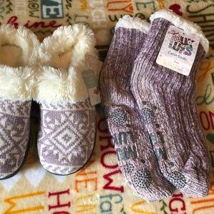 MUK LUKS Slipper/Cabin Sock 5/6 Violet